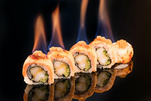 Salmon fire fly roll