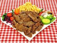 Talerz kebab z baraniny