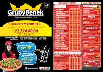 Pizzeria Gruby Benek Grodzisk Mazowiecki