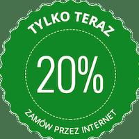 Rabat 20% do pierwszego zamówienia online.