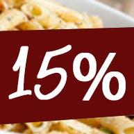 - 15% na pizze 40 cm i sos gratis
