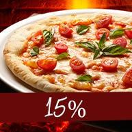 Poniedziałek - 15% rabatu na każdą pizzę!