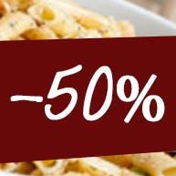 druga pizza w tej samej cenie za pół ceny