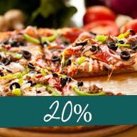 Pizze w rozm. 45cm w promocji 20%-cena uwzględnia rabat