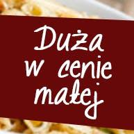 W poniedziałki duża pizza w cenie małej