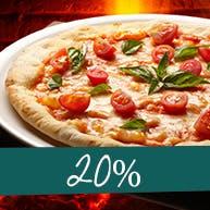 Druga pizza z 20% rabatem.