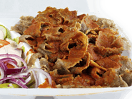 Kebab na talerzu - duży