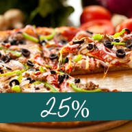 Druga duża pizza 25% taniej!