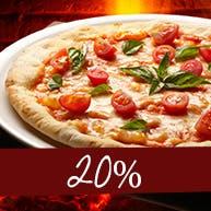 Pizze w rozm. 45cm TAŃSZE O 20%, ceny zawierają rabat