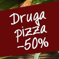 Wtorek - kup 2 pizze, druga 50% taniej!