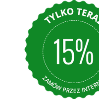 Kupon rabatowy 15 %