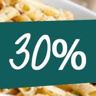 30% ZNIŻKI NA PIZZĘ OD PONIEDZIAŁKU DO CZWARTKU