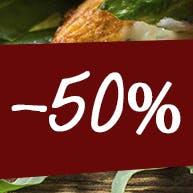 Druga średnia pizza 45cm -50%