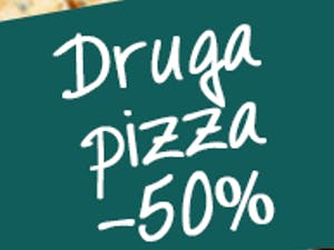 DRUGA PIZZA -50%