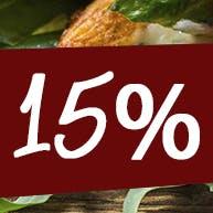 -15 % rabatu na pizze 30 cm