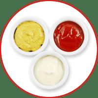 Zestaw 3 sosów