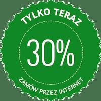 Rabat 30% dla stałych klientów.