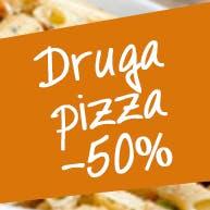 Druga pizza za 50%