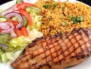 Grillowana pierś kurczaka z  ryżem i sałatką