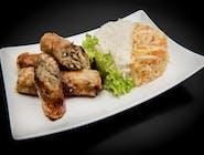 Sajgonki (3 x 80g/szt.) z ryżem i surówką