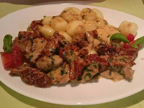 Gnocchi z polędwiczką wieprzową